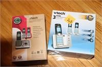 VTECH & UNIDEN PHONE SETS, LIKE NEW