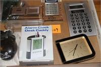 DESK CALCULATORS, CLOCKS, ALARMS