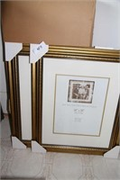 NEW 2 GOLD FRAMES,SEE PICS FOR DESCRIPTION & SIZE