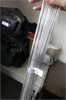 19 GLASS RODS (4FT HIGH)