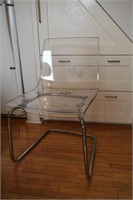 SET OF 4 IKEA TOBIAS ACRYLIC CLEAR CHAIRS