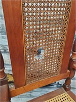 11 - WOODEN CHAIR - HOLE IN BACK - SEE PICS