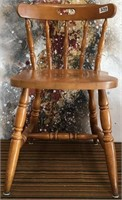 333 - SOLID WOOD CHAIR