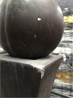 76 - LARGE BLACK WATER FOUNTAIN WELCOME ABOARD
