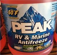 11 - LOT OF 3 BOTTLES OF PEAK RV & MARINE ANTIFREE