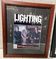 11 - FRAMED MOB ACTIVITY LIGHTING DIMENSIONS ART