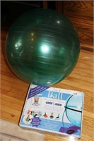 2 EXERCISE BALLS, COMES WITH INSTRUCTIONAL BOOKLET