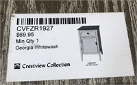 43 - NEW WMC GEORGIA WHITEWASH CABINET ($69.95)