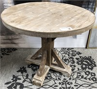 43 - NEW WMC SONOMA RUSTIC WOOD TABLE ($159.95)