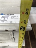 43 - NEW WMC CHALK GREY 1 DRAWER CHAIRSIDE TABLE