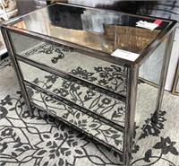 43 - NEW WMC MIRRORED 3 DRAWER CHEST ($299.95)