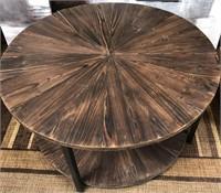 43 - NEW WMC ROUND WOOD/METAL TABLE