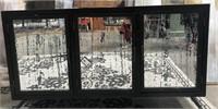 43 - NEW WMC 3 DOOR MIRRORED SIDEBOARD ($379.95)