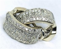 14KT WHITE GOLD 1.50CTS DIAMOND EARRINGS