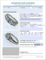 14KT WHITE GOLD 1.23CTS DIAMOND RING FEATURES