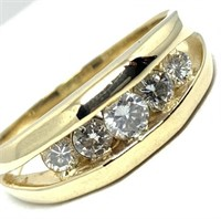 14KT YELLOW GOLD 1.03CTS DIAMOND RING