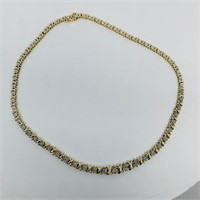 10KT YELLOW GOLD 1.50 CTS DIAMOND NECKLACE