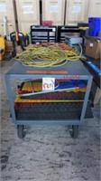 Heavy Duty Metal Cart with Wheels