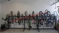 Single-Sided Grid Bike Rack