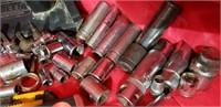 Tool Lot, Ratchet, Sockets , Grease Gun,