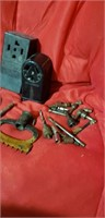 misc tools lot. 220V electric outlets,  drill