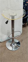 Chrome/ Lucite. Bar Stool