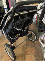 Instep double seater jogging stroller - 2 storage