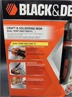 Black & decker craft & soldering iron - new