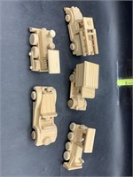 Wooden vehicles - ready to paint