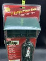 New 15ft outdoor power strip