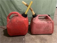 2 plastic gas cans - 2 1/2 gallon & 2 gallon
