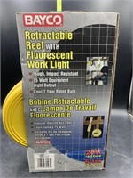 New bayco retractable reel with fluorescent work