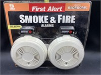 First alert smoke and fire alarms - new - 2 pack