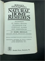 Natural home remedies book