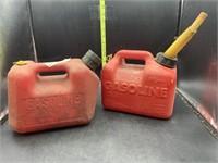 2 1 gallon gas cans