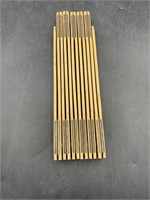 Craftsman 6ft Wooden stanley ruler with Brass