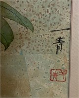 320 - GORGEOUS FRAMED ASIAN FLOWER ART