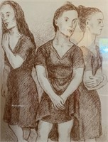 320 - SIGNED & NUMBERED 3 SISTERS WALL ART