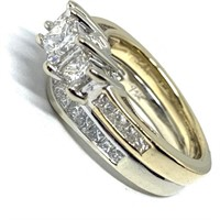 14KT YELLOW GOLD 1.41CTS DIAMOND RING FEATURES