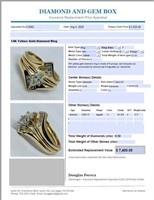 14KT YELLOW GOLD .50CTS DIAMOND RING FEATURES