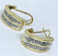 14KT YELLOW GOLD .40CTS DIAMOND EARRINGS
