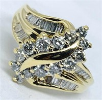 14KT YELLOW GOLD 1.00CTS DIAMOND RING