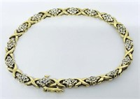 10KT YELLOW GOLD 1.50CTS DIAMOND BRACELET