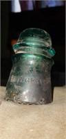Vintage Hemingray Pat. May 2 1893 Glass insulator