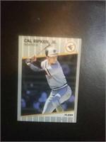 Cal Ripken Jr. Orioles baseball card. 1989 Fleer
