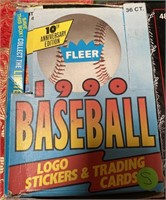 N - LOT OF 4 BOXES OF BASEBALL CARDS (S)