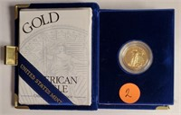 1997 1/4 OZ FINE GOLD $10 DOLLAR COIN (2)