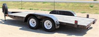 """1998 Superior Car Hauler, Bumper-Pull, 75"""" x 16', tandem axle, removable fenders, ramps, floor needs repair, has title.  NOTE: This item will be sold at live auction, however absentee bids can be placed if you are unable to attend the auction. More details & pictures can be viewed by clicking the catalog tab and view Lot #8."""