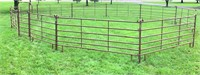 Priefert Round Pen ((10) panels @12', (1) panel @ 12' w/4' walk-thru gate inserted)).  NOTE: This item will be sold at live auction, however absentee bids can be placed if you are unable to attend the auction. More details can be viewed by clicking the catalog tab and view Lot #11.