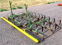 """JD 2-Section Springtooth Cultivator, 8'6"""".  NOTE: This item will be sold at live auction, however absentee bids can be placed if you are unable to attend the auction. More details and pictures can be viewed by clicking the catalog tab and view Lot #16."""